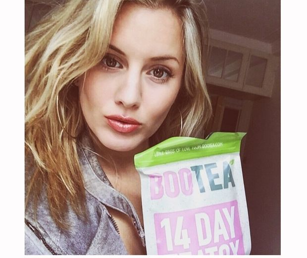 Caggie Dunlop has been following the Bootea teatox