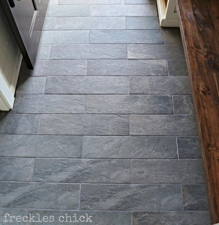 Freckles chick mini mudroom tiled benchedstyle selections 6 in x 24 in ivetta black slate Slate tile flooring