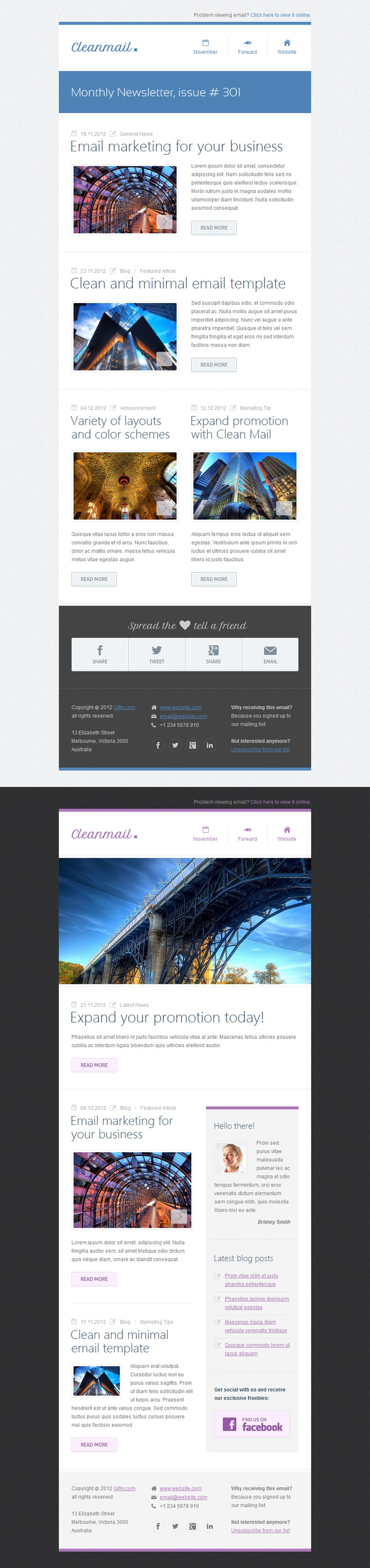 Meer dan 1000 ideen over mailing template op pinterest boite clean mail minimal email template pronofoot35fo Gallery