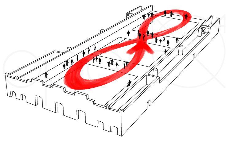 Il ballatoio corre lungo tutto il perimetro dell'edificio, garantisce l'accesso alle stanze e crea nuovi spazi di socializzazione.