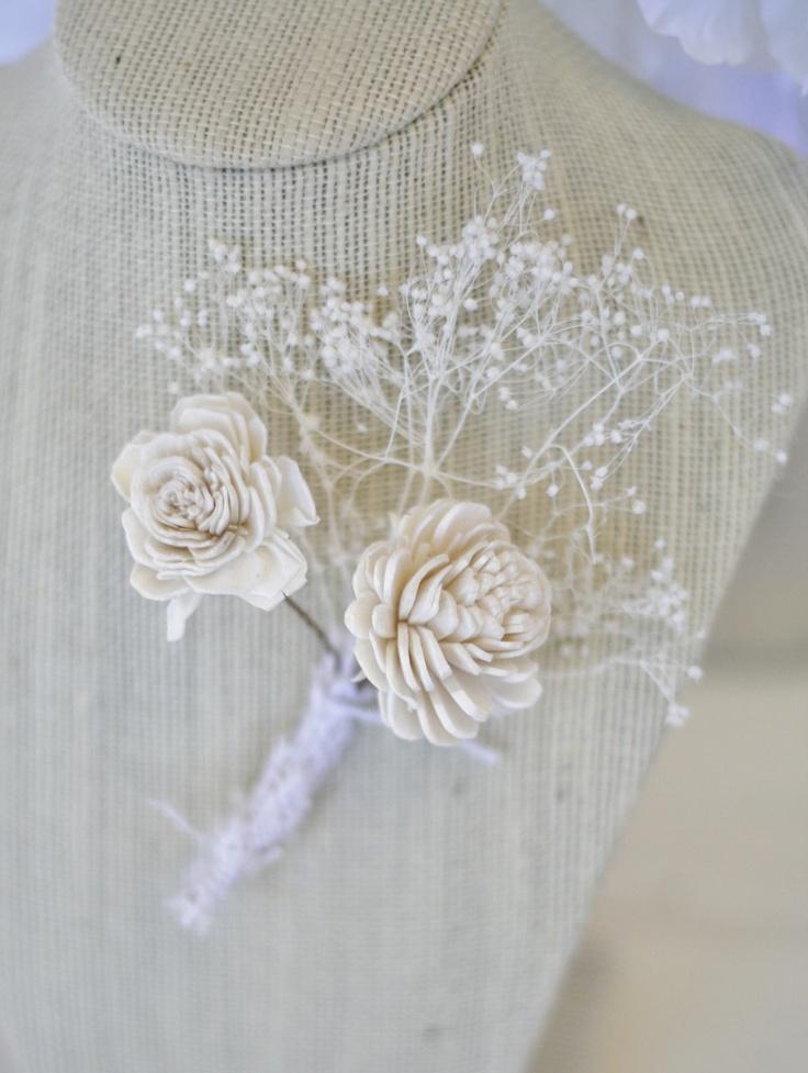 Rustic Wedding Boutonniere (item F10301). $19.99, via Etsy.