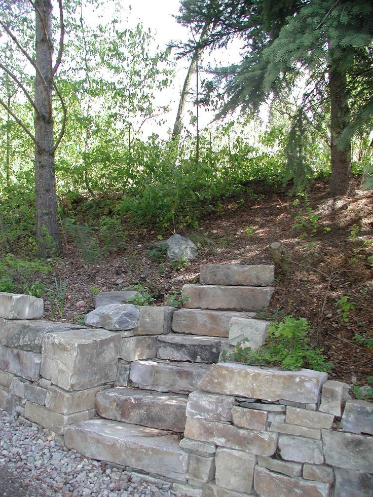 21 best steps walls images on pinterest natural stones for Stone retaining wall design