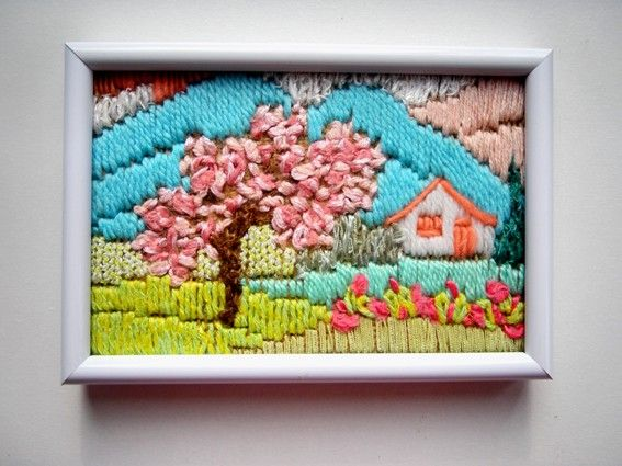 Miniature tapestry by Nerina52 on Etsy.