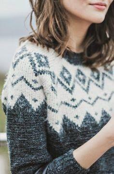 like a fair isle sweater mixed with a scandinavian pattern.