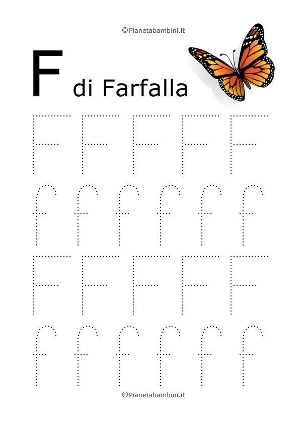 Schede di Pregrafismo delle Lettere dell'Alfabeto da