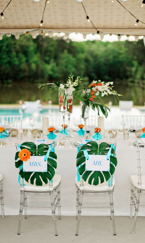 beach wedding in new jersey%0A Modern Luxury Poolside Wedding Inspiration with Tropical Flair