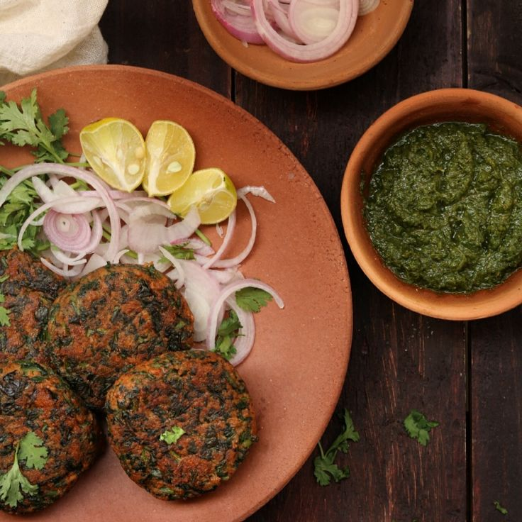 Spinach And Oats Kebabs