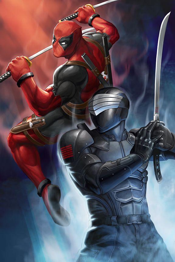 spyrale:  Snake Eyes vs Deadpool! by Herbert Kwan___©__!!!!