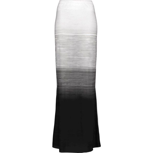 NORMA KAMALI   Obie ombré stretch-jersey maxi skirt (€125) ❤ liked on Polyvore featuring skirts, elastic waistband skirt, floor length skirt, ombre maxi skirt, maxi skirts and ombre long skirt