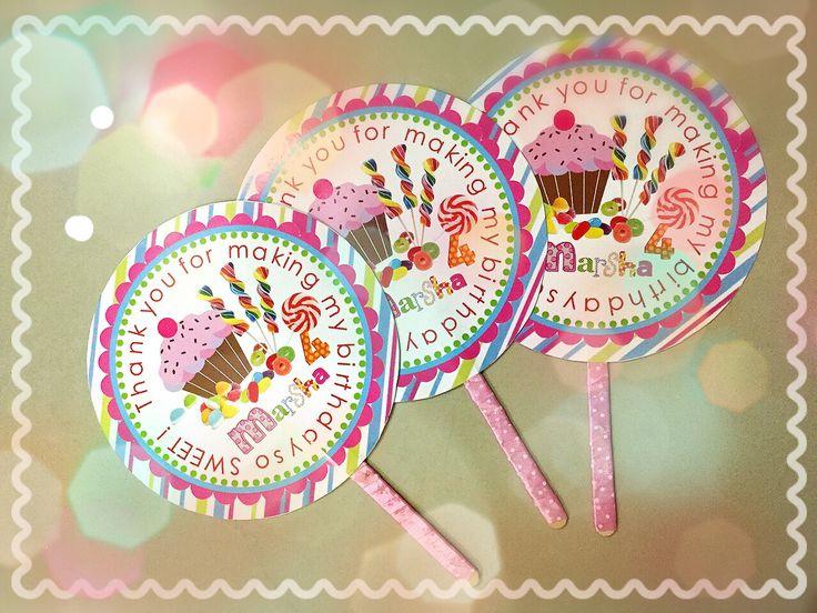 Lolipop fan #diy#lolipop#goodie#birthday#marsha#candytheme#sweet#candy#ryumiru#