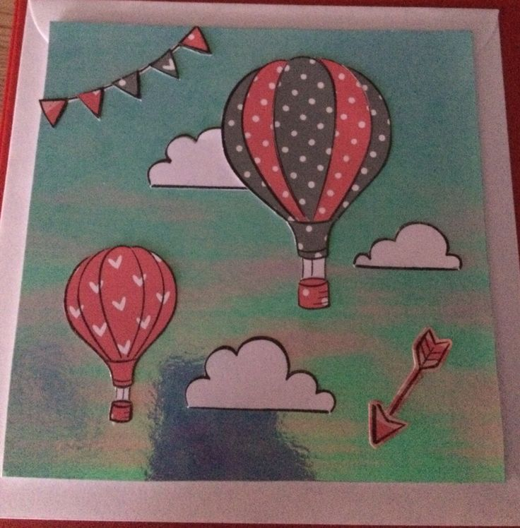 Lawn fawn balloon card #lawn#fawn#clouds#cards#balloons#stamps