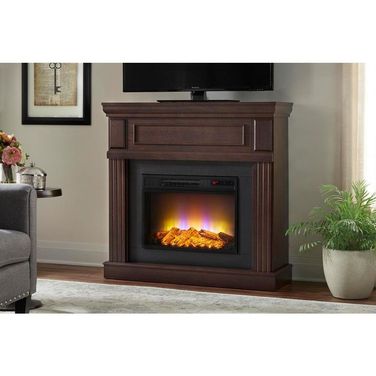 Home Decorators Collection Grantley 40 In Freestanding Electric Fireplace In Midnight Cherry 112326 The Freestanding Fireplace Electric Fireplace Fireplace