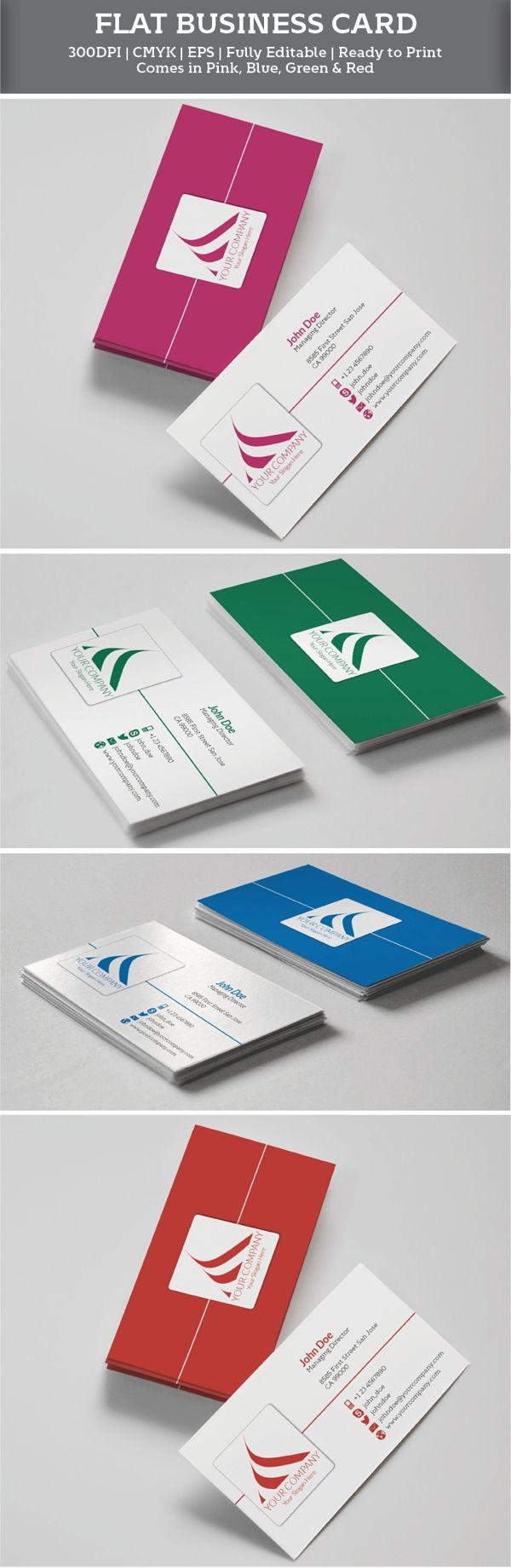 181 best free business cards images on pinterest free business free flat business cards reheart Gallery