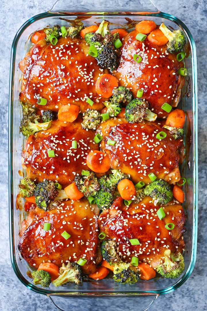 Making this baked teriyaki chicken and broccoli for family dinner tonight.
