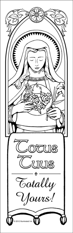 totus tuus totally yours marian coloring page catholic crafts - Coloring Pages Catholic Sacraments