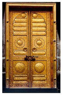 The Door of Kaaba, Masjid AL-Haram in Mecca, Saudi Arabia.