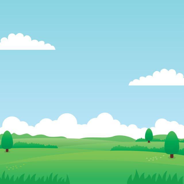 Nature Landscape Vector With Green Grass Trees Blue Sky And Clouds Suitable For Background Or Illustration Nature Clipart Landscape Illustration Png And Vect Imagem De Floresta Planos De Fundo Fundos De