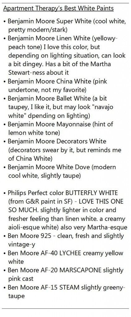 Best White Paint Colors. This list of white paint colors explain each white…