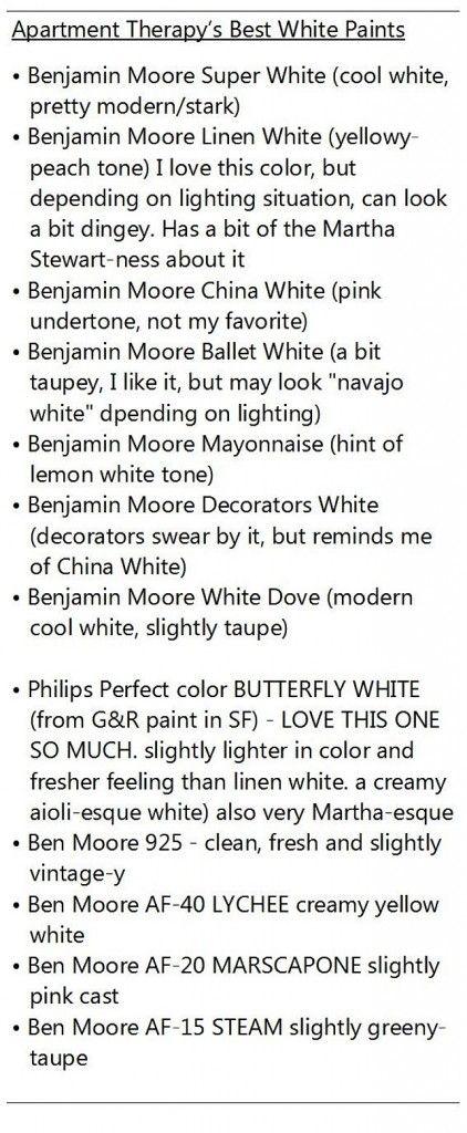 Best White Paint Colors. This list of white paint colors explain each white…