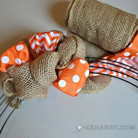 sports shoe on buckner DIY Summer Burlap Wreath  Orange Chevron and Polka Dot   Kenarry com