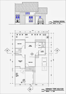contoh gambar denah rumah minimalis terbaru | denah rumah