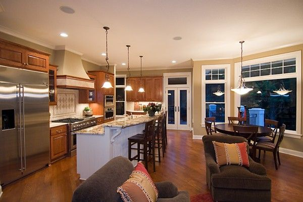 30 Best Great Rooms/Kitchens Images On Pinterest