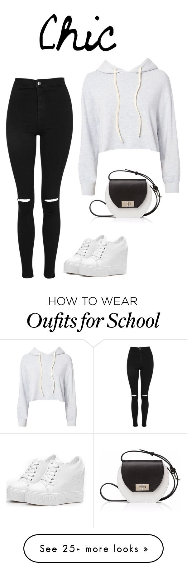 """School day"" by amksupper on Polyvore featuring Topshop, Monrow and Joanna Maxham"
