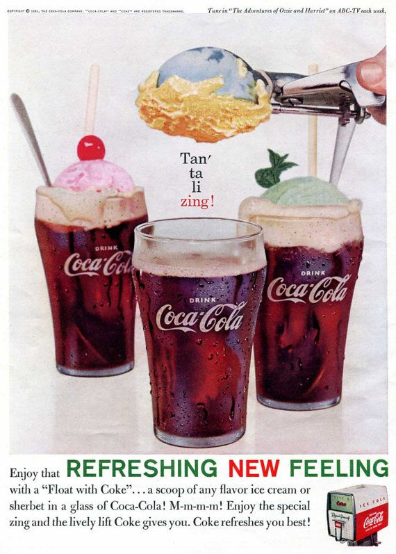 This picture is demonstrating that there are more than one ways to enjoy a Coke. People might be inspired by this and try to make new recipes and drinks using Coke since they know it can be used with ice cream.
