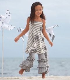 floral stripes dress: kids clothes, but just you watch, I'll make for myself one day.  I think very adorable even for an adult!