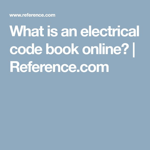 What is an electrical code book online? | Reference.com