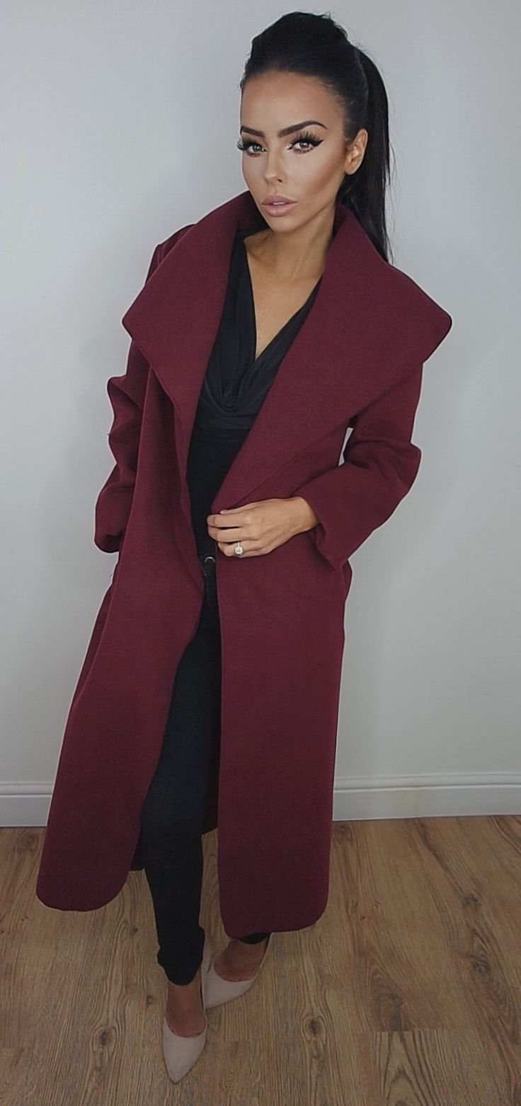 Wine Waterfall Coat