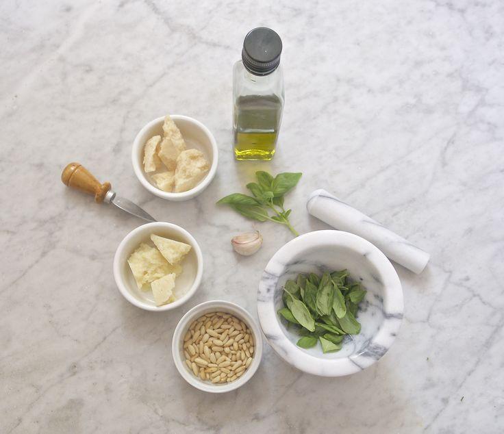 Ingredients for Liguria pesto