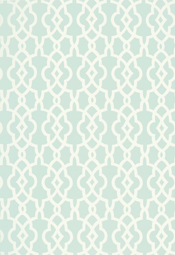 Spring Fret Traditional Lattice - Aqua Blue Green Cream [LAT-503] : Designer Wallcoverings™