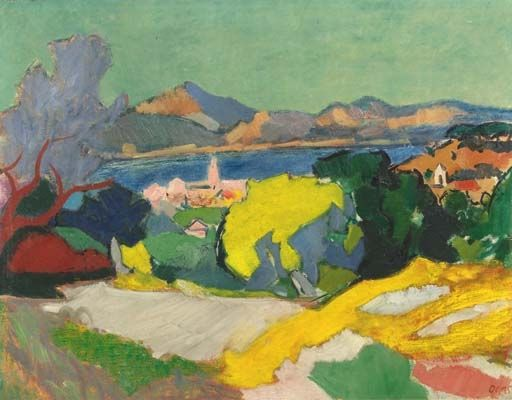 popgoesred: Wim Oepts (Dutch, 1904 - 1988) A VIEW OF SAINT TROPEZ, FRANCE (Love this artist. Don't know why I didn't think of him before)