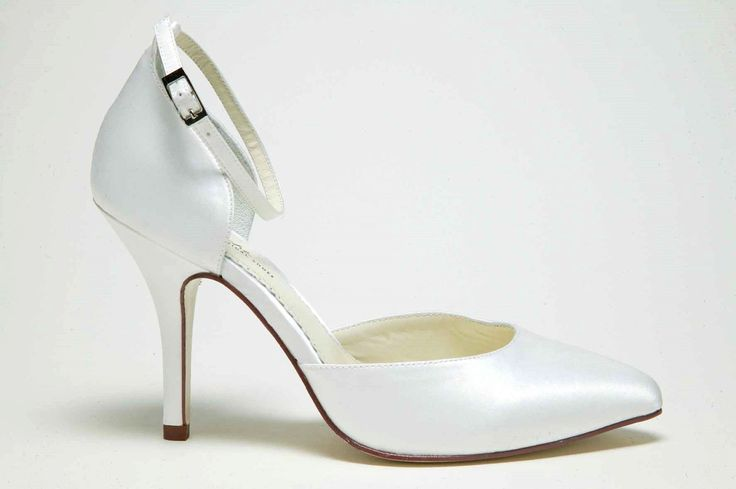 VICTORIA' In ivory silk: winter wedding shoes: ankle strap: bridal ...