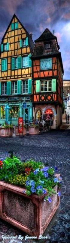 Colmar, Alsace, France what a beautiful colors..