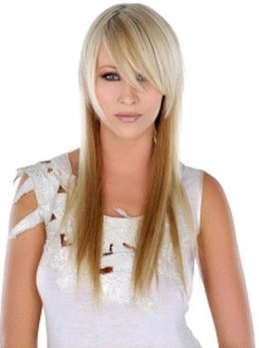 long+choppy+two+toned+hair+style | long hairstyle in two tone with long side bangs.jpg picture