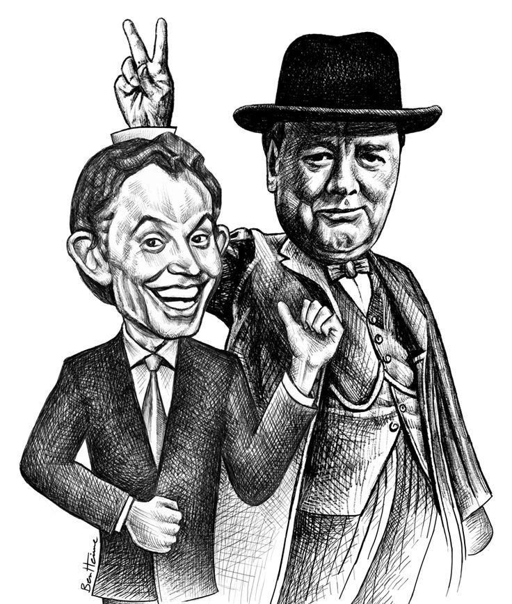 BenHeine.deviantart.com on @deviantART | Tony Blair, Winston Churchill