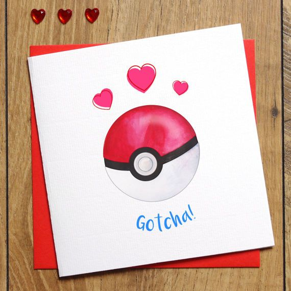Pokemon Engagement Card - Pokemon Go Card - Gotcha! - I Choose You - Pokemon Wedding Card - Nerd Engagement Card - Congratulations Card by Jessica Scissorhands on Etsy