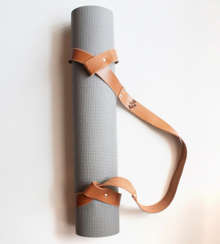 Leather Yoga Mat Strap | Embrace your inner yogi with this simply gorgeous yoga mat str... | Yoga & Pilates Accessories