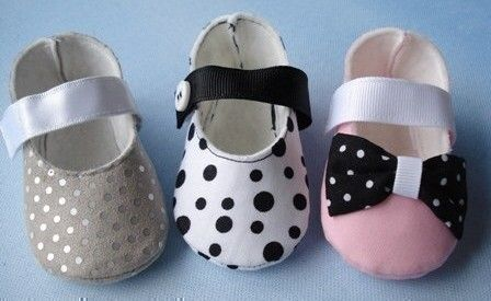 Mary Jane Baby Shoes Sewing Pattern with Ribbon Strap and Velcro Closure - PDF ePattern. $3.99, via Etsy.