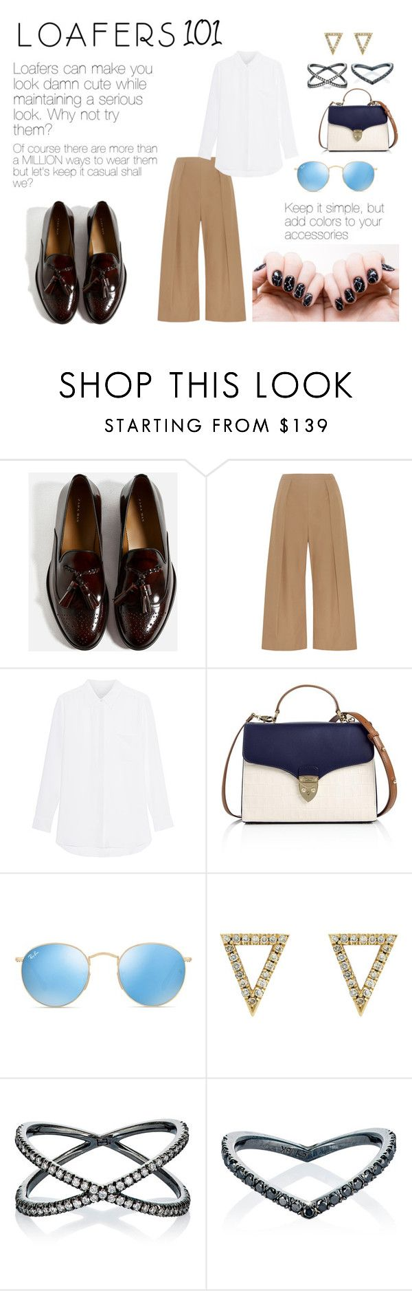 """""""Loafers 101"""" by windrasiregar on Polyvore featuring N°21, Aspinal of London, Ray-Ban and Eva Fehren"""