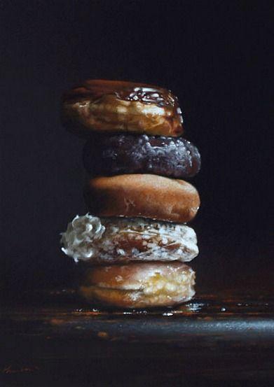 Donuts // Larry Preston // Oil on Canvas