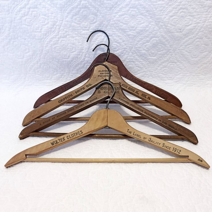 Excited to share the latest addition to my #etsy shop: Four vintage wooden hangers, advertising clothing hangers, Pennsylvania vintage suit hangers #vintage #collectibles #wooden #hangers #retro #advertising #advertisement