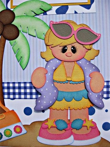 Beach Girl (Scrapbook Paper Piecings)