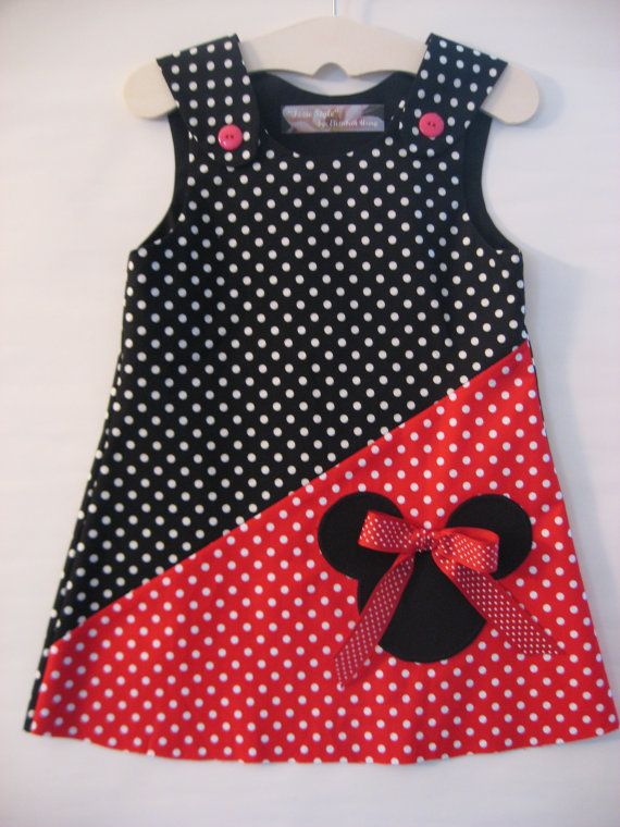 Red/Black Minnie Mouse Dress by izziestyle on Etsy, $30.00