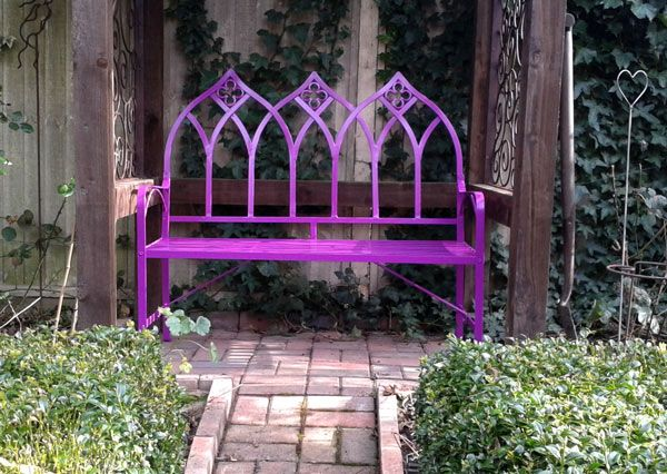 Top 25 Ideas About Metal Garden Benches On Pinterest