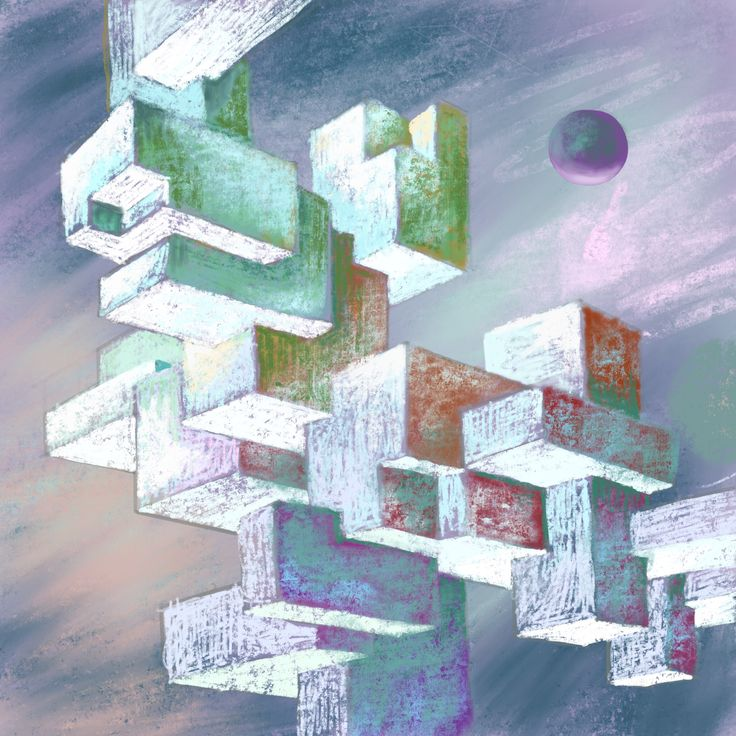 """""""Crystals""""  Digital painting on iPad"""