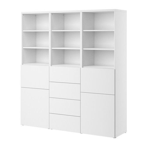 BESTÅ Storage combination w doors/drawers IKEA Adjustable feet; stands steady also on an uneven floor.