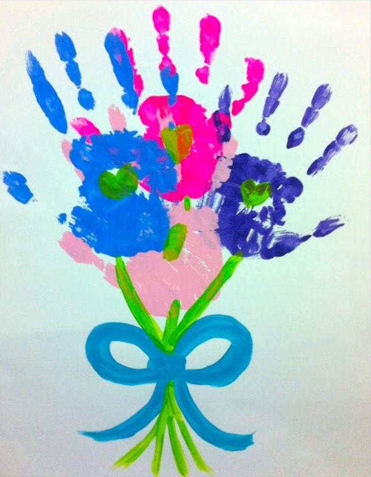Работу картинки, нарисованная детьми открытка с цветами